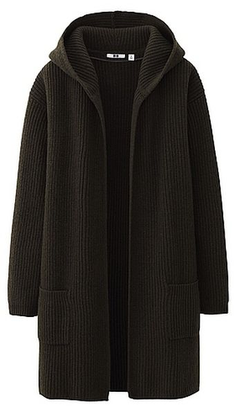 Uniqlo Heavy Gauge Sweater Coat Lyst | Sweater coats