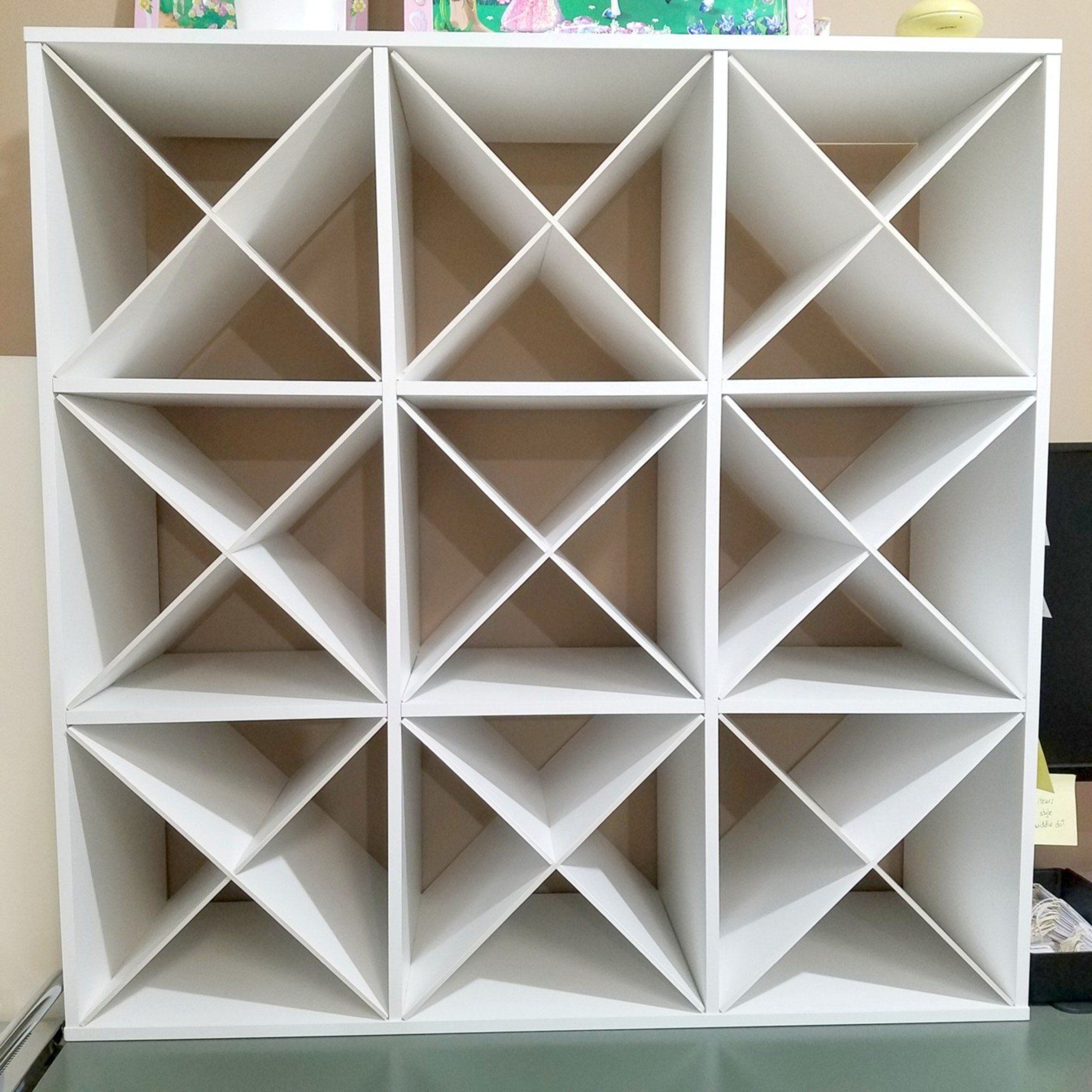X Divider Cube Insert For Cube Storage Shelves Cube Storage Shelves Craft Room Organization Cube Storage