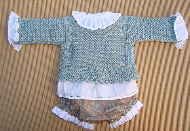 Tutoriales Depunto Dos Agujas Knit Bebé Recien Nacido Newborn Chaqueta Bebe Punto Chaqueta Bebe Ropa Tejida Para Bebe