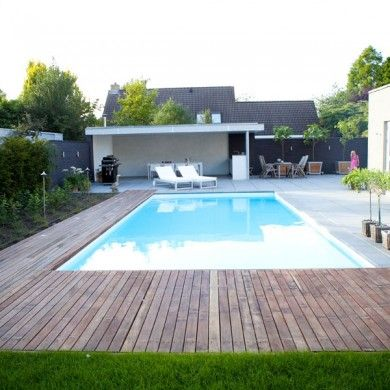 aanleg zwembad met vlonder in 2010 tuinaanleg met zwembad pinterest. Black Bedroom Furniture Sets. Home Design Ideas