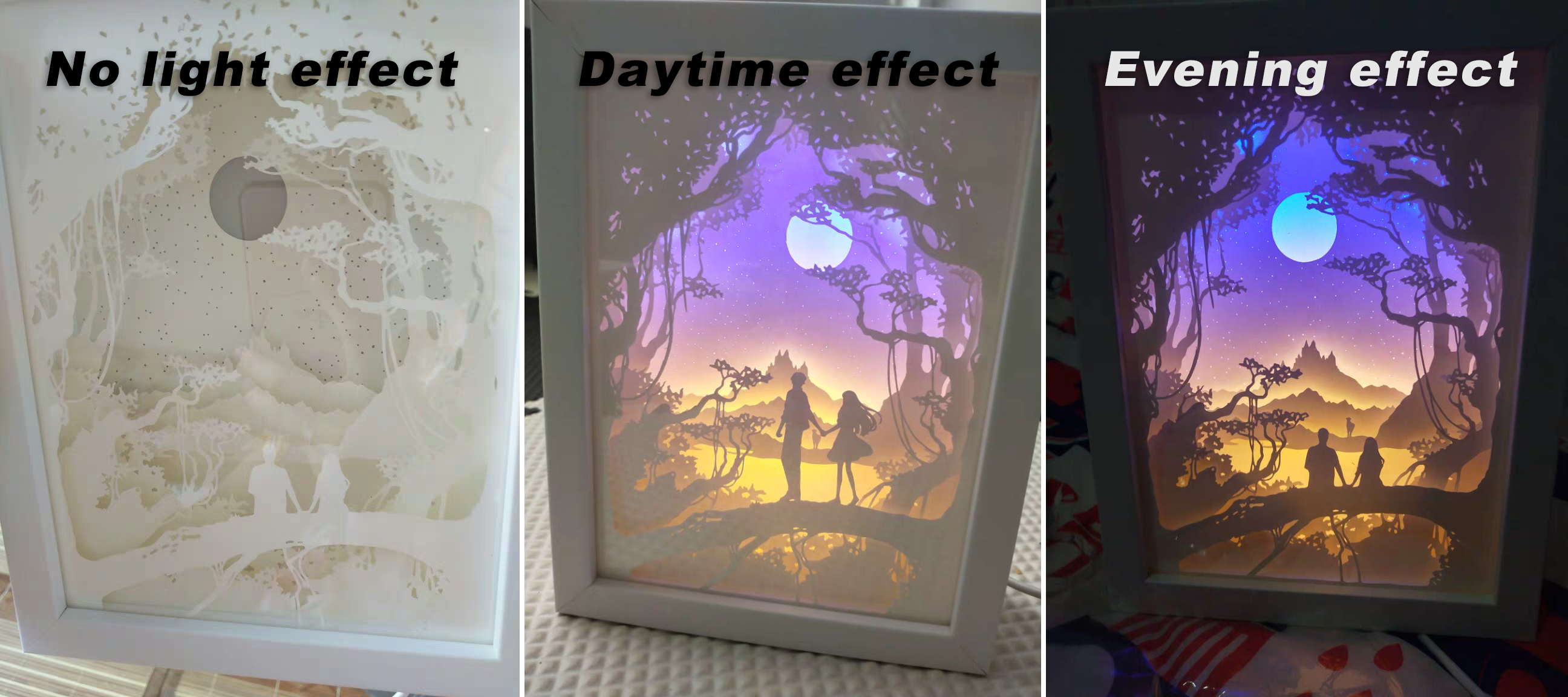 3d Paper Carving Night Lights Paper Carving Night Lights 3d Light Light Shadow Paper