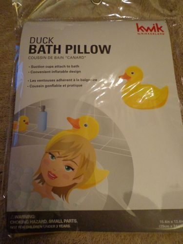 Yellow Rubber Duck Ducky TUB Bath Pillow With Suction Cups | eBay ...