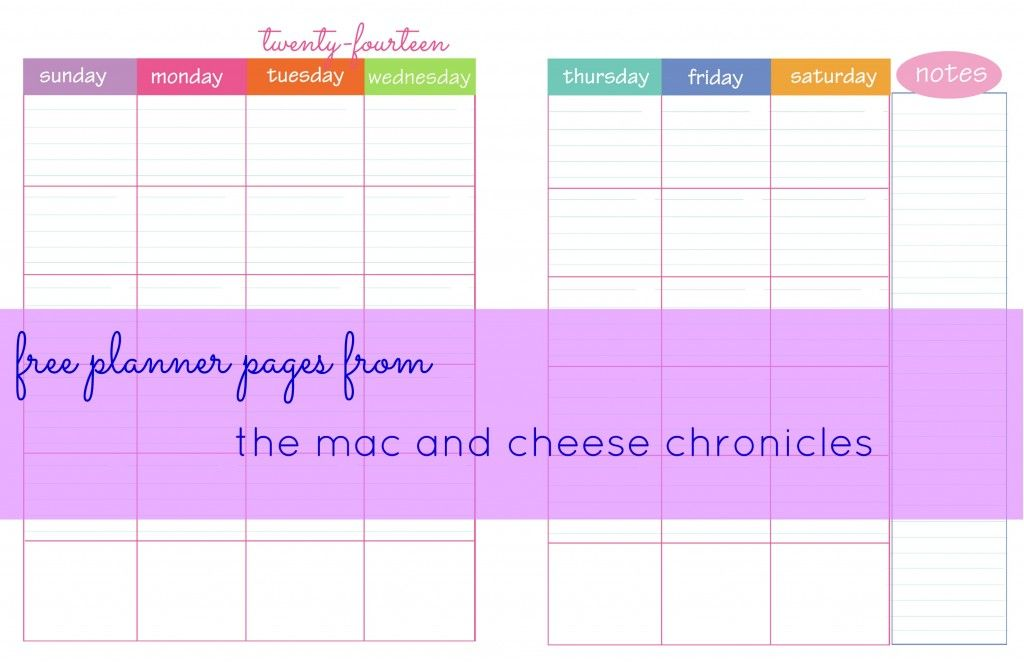 free printable monthly planner pages full and half size available