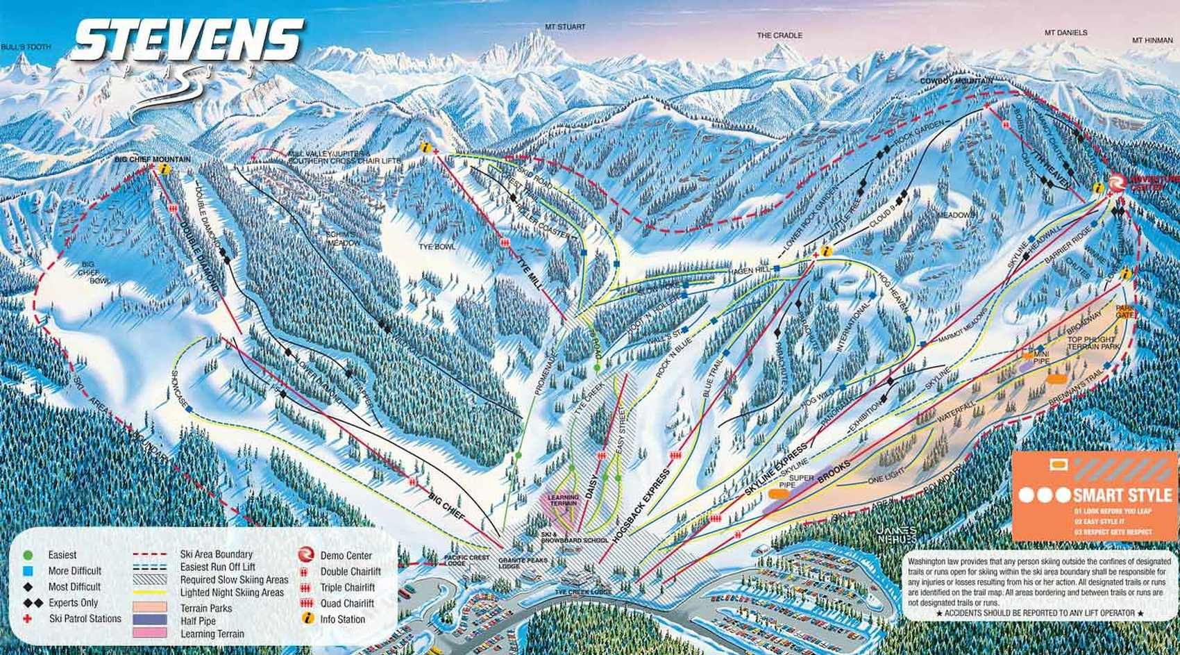 Stevens Pass Trail Map  Mountains Ive Boarded  Pinterest
