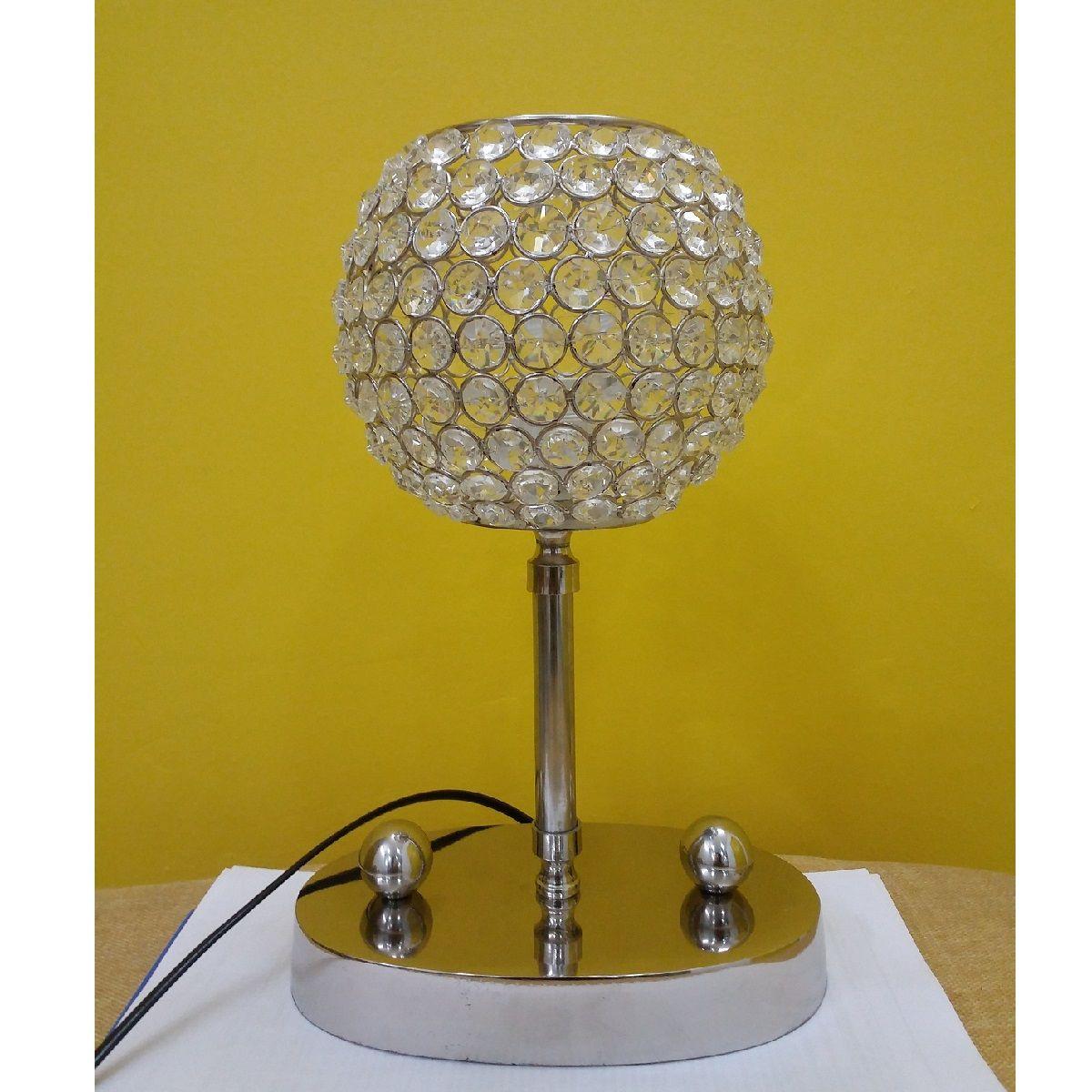 Circular White Crystal Electric Lamp Lamp Electric Lamp Electricity