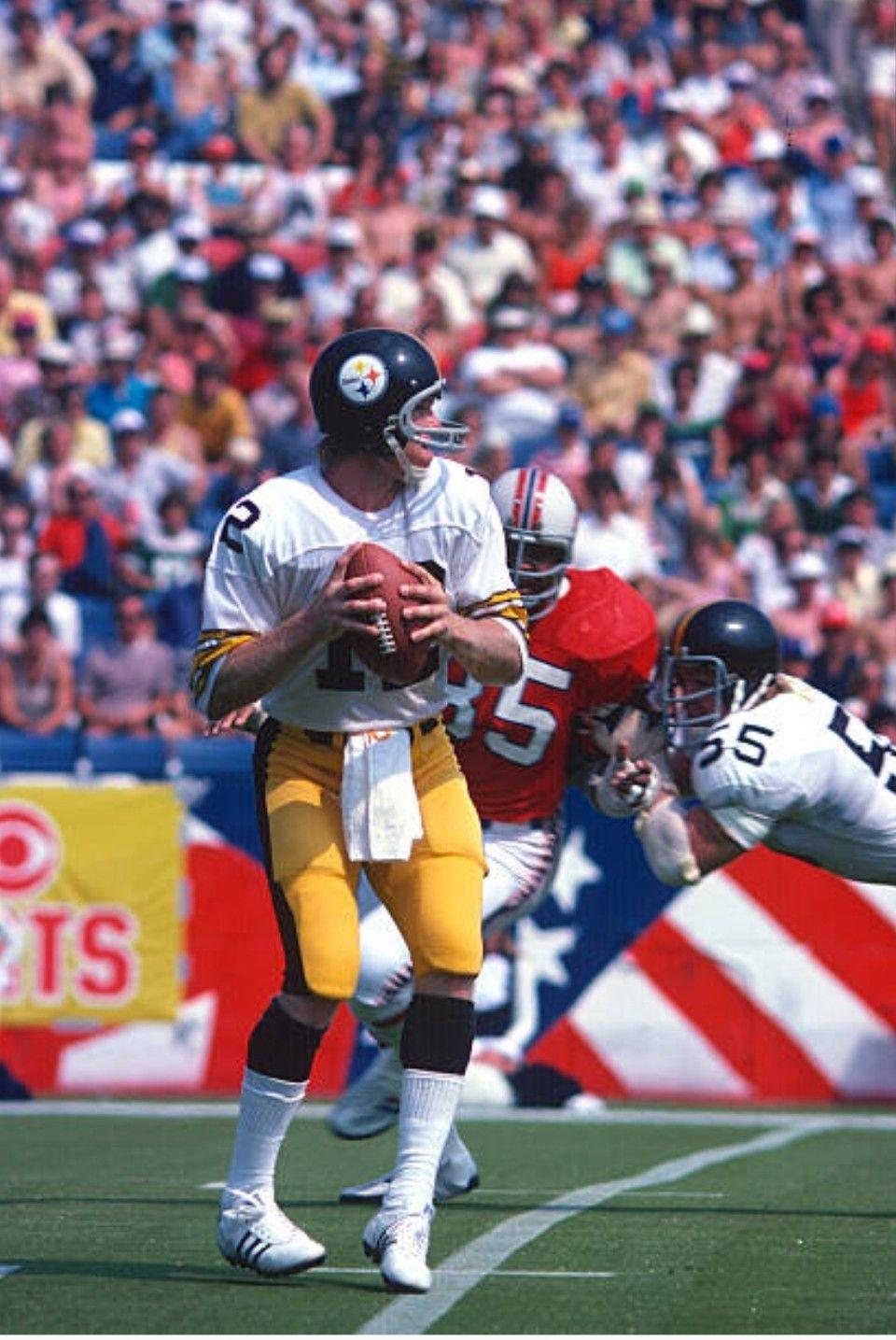 Bradshaw, 1974 Steelers at Patriots Patriots preseason