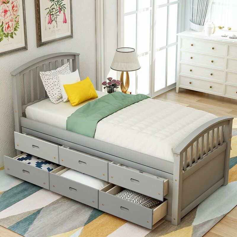 Helius Twin Storage Platform Bed In 2021 Bed Frame With Storage Wood Platform Bed Bed Frame With Drawers Twin bed with mattress included