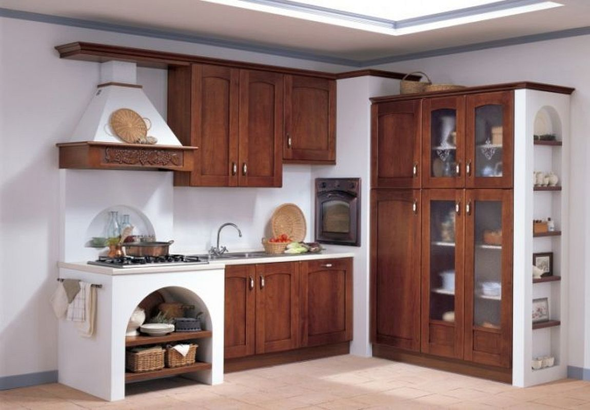 Modular Kitchen Designs Indian Style With Outside Kitchen Island With Cherry Kitchen Cabinets Pictures Dengan Gambar