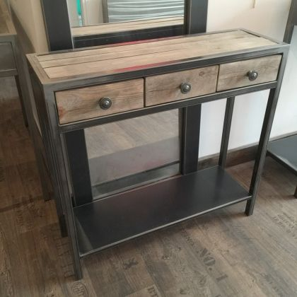 Meuble Entree Console Metal Brut Console Meuble Meuble Entree Meuble Metal
