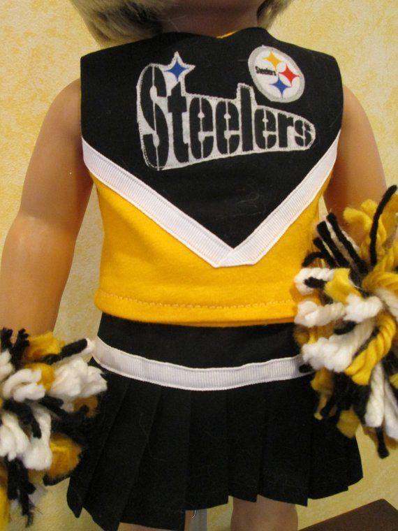 Steeler's Cheerleader Uniform for 18 inch Dolls #18inchcheerleaderclothes Steeler's Cheerleader Uniform for 18 inch Dolls #18inchcheerleaderclothes