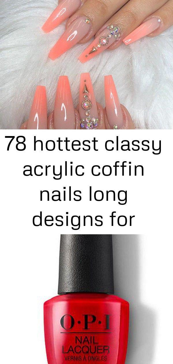 78 heetste stijlvolle acryl doodskist nagels lange ontwerpen voor zomer nagel kleur – – 2