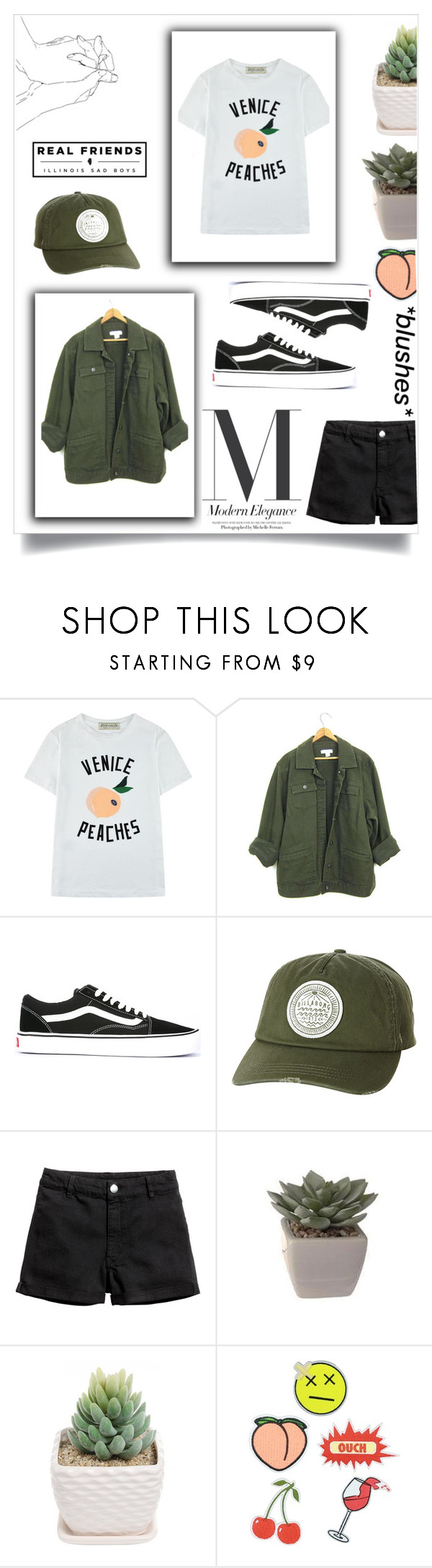 """""""Grunge-Green Denim Jacket"""" by stella-kar ❤ liked on Polyvore featuring Être Cécile, Vans, Billabong and Eye Candy"""