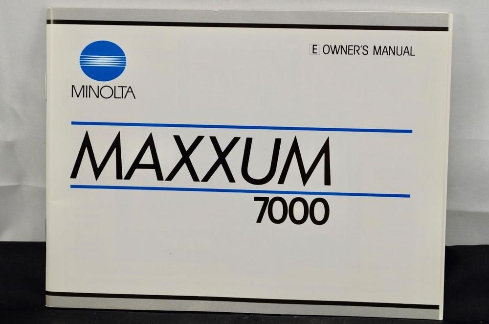 minolta 7000 manual