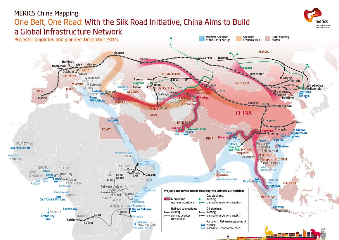 Maps on the Web The Silk Road Economic Belt Chinese development