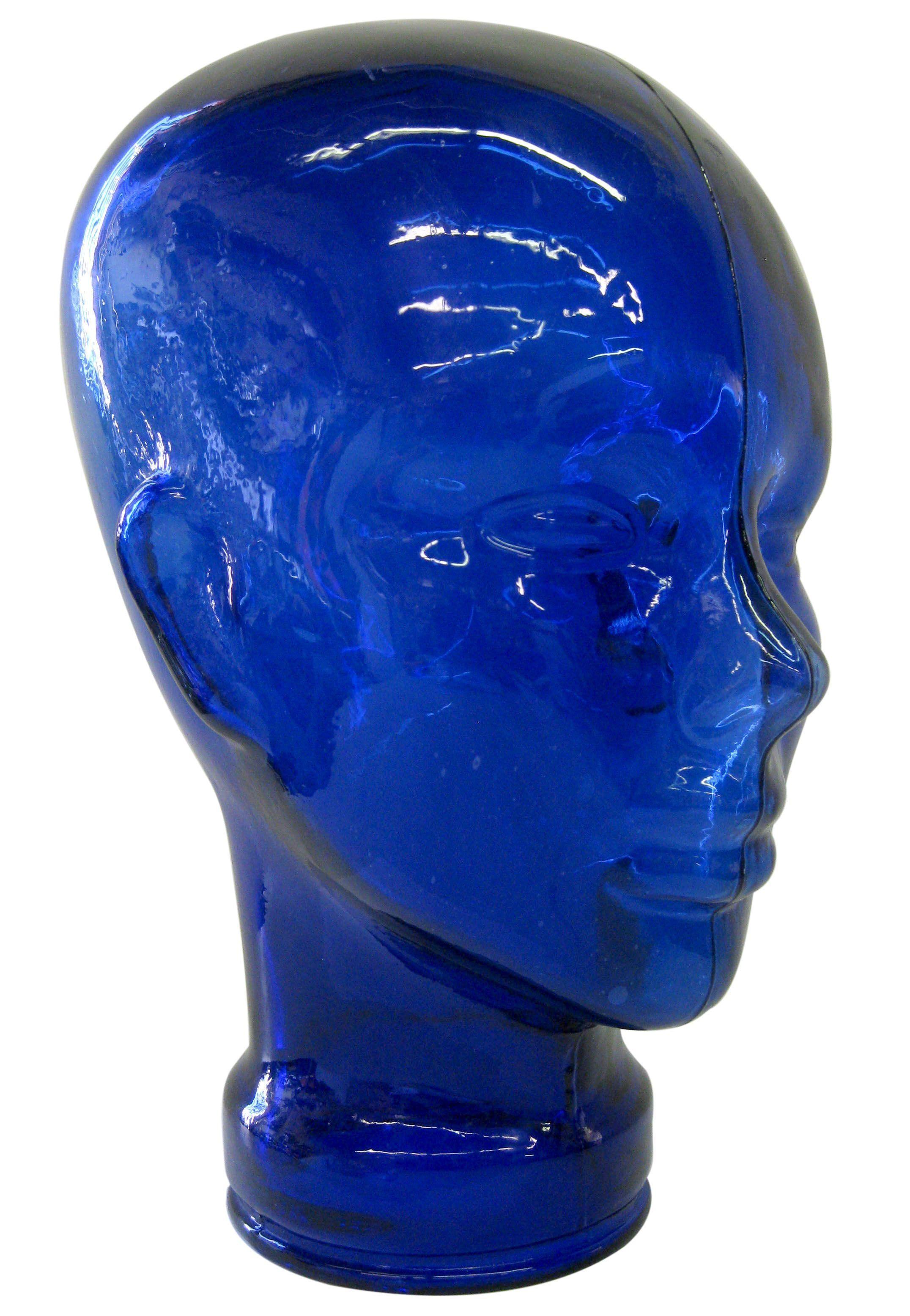 Best Cobalt Blue Glass Head On Chairish Com Blue Home Decor 400 x 300