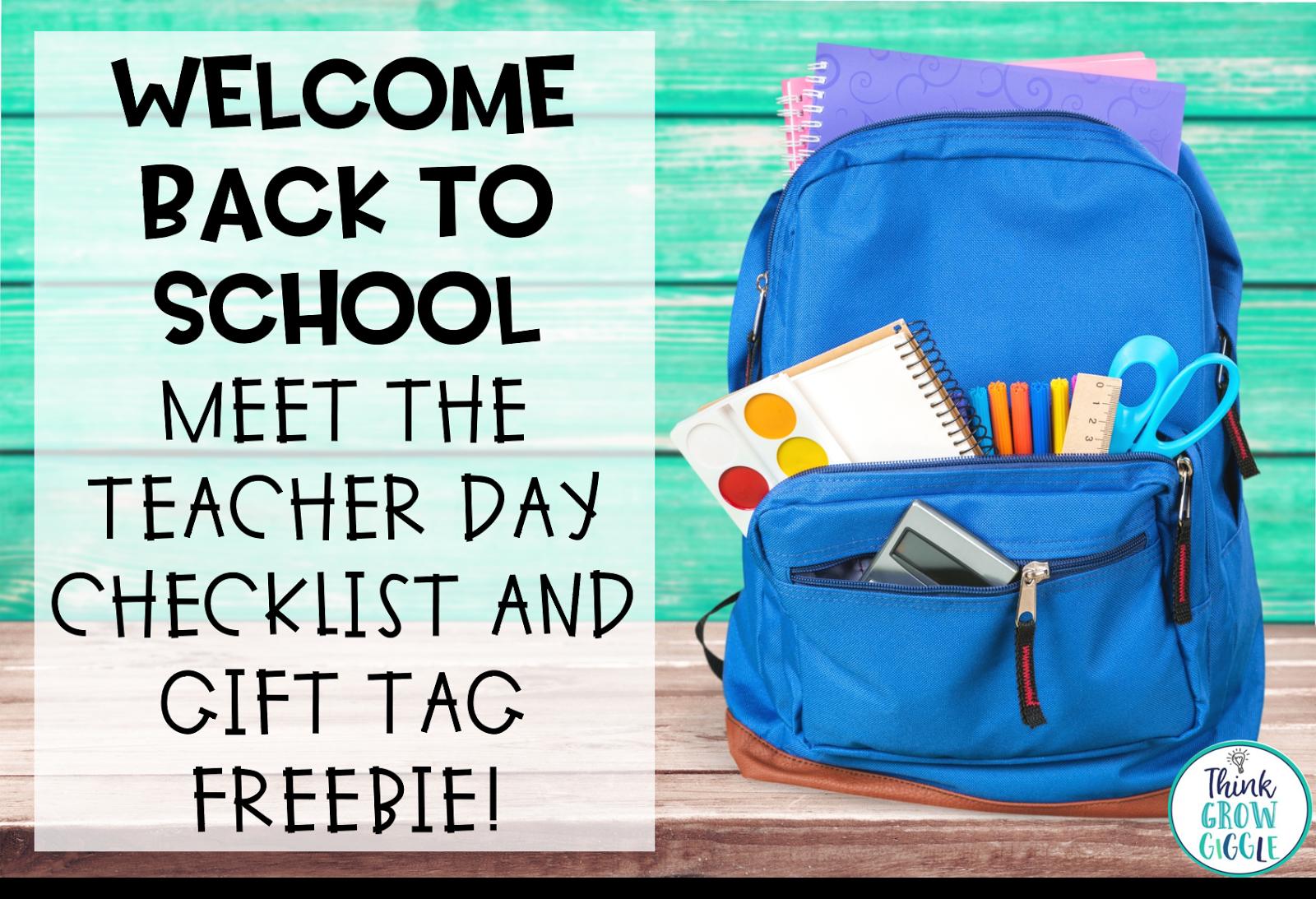 Welcome Back To School Freebie Back To School Freebie Back To School T Tag