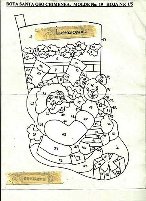 bota_santa_oso_10002 (508x700, 112Kb) | Botas Navidad | Navidad ...