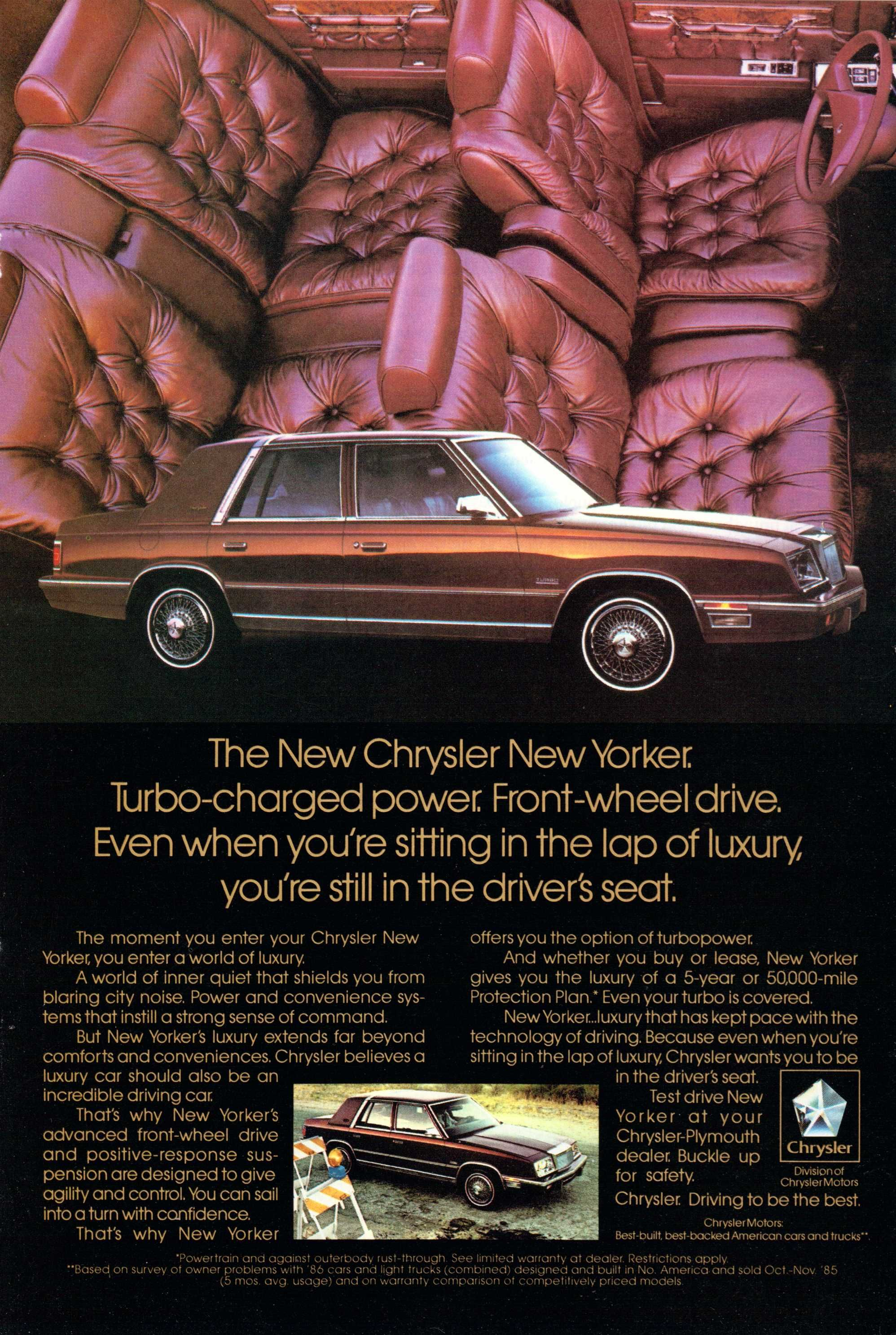 1986 Chrysler New Yorker Ad From National Geographic November 1986 Chrysler Cars Chrysler New Yorker Chrysler