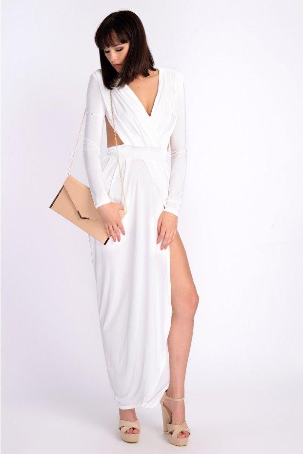 e680ca72cb Celebirty Inspired Sukienka Hanah (złamana biel)
