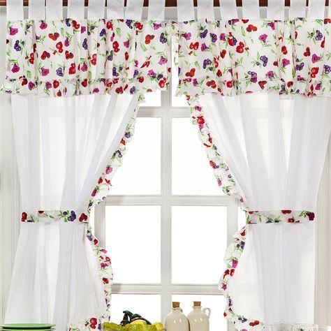 Cortinas de cocina ideas para cocinas cortinas - Cortinas para puertas de cocina ...