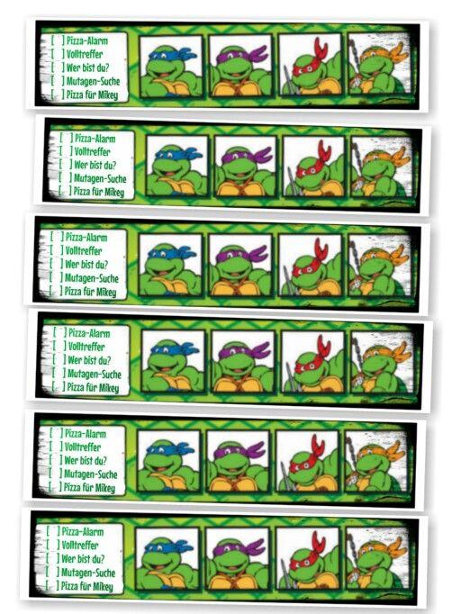 laufkarte spiele zum abhaken auf einer turtles geburtstagsfeier pizza alarm eigene pizza. Black Bedroom Furniture Sets. Home Design Ideas