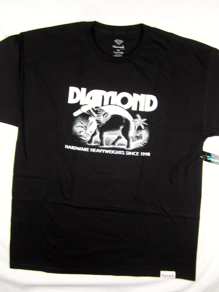 77e077bb7 Diamond Supply Co Ivory Elephant black tee shirt men s skate Urban size XL   DiamondSupplyCo  GraphicTee