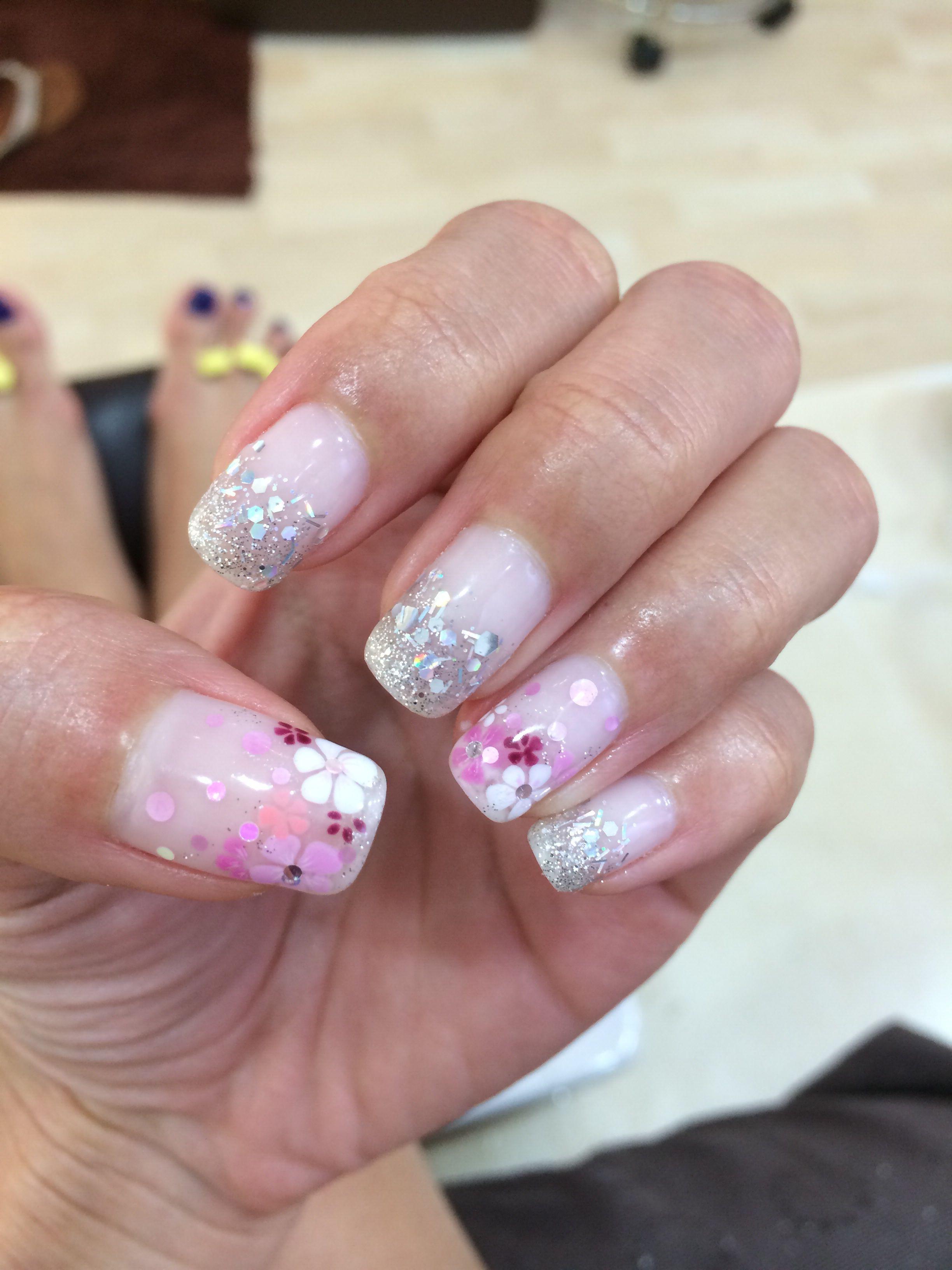 Sakura theme nails hair u beauty pinterest hair and beauty