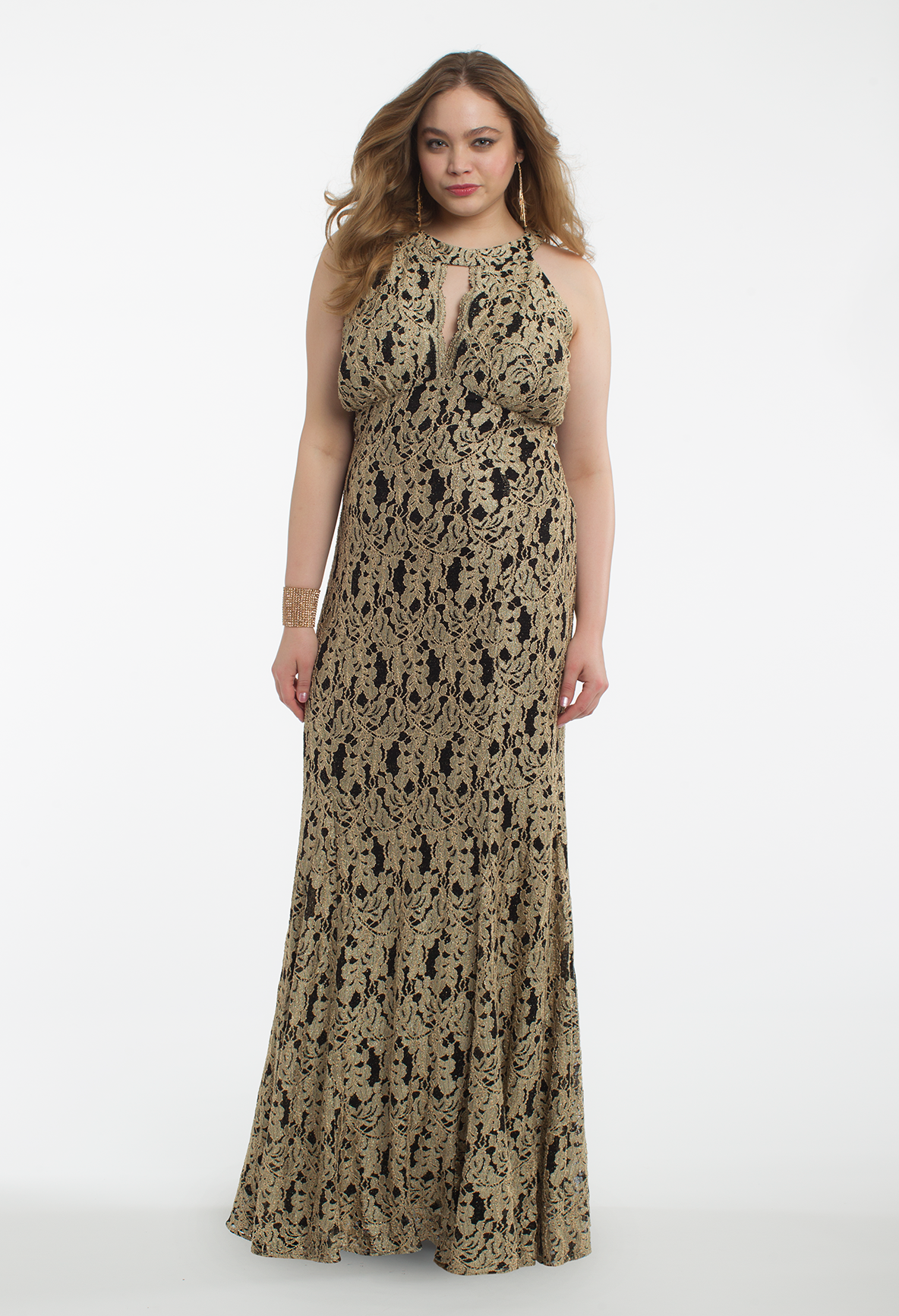 Glimmer like a goddess in this extravagant evening dress the cleo