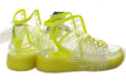cc187e65394 Tenis Adidas Originals Jeremy Scott Transparentes  Neon