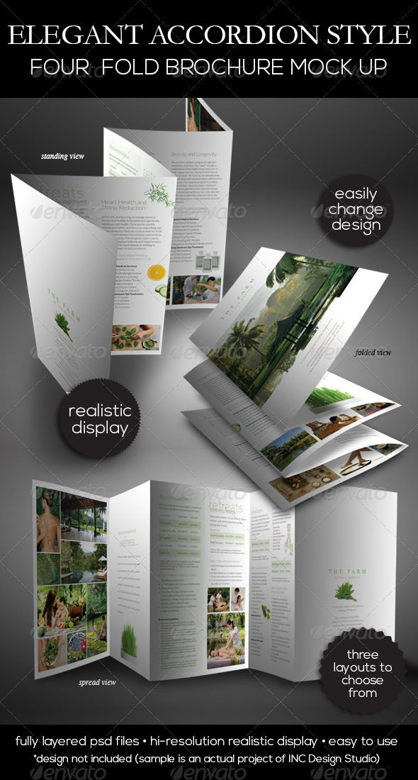 six panel brochure template