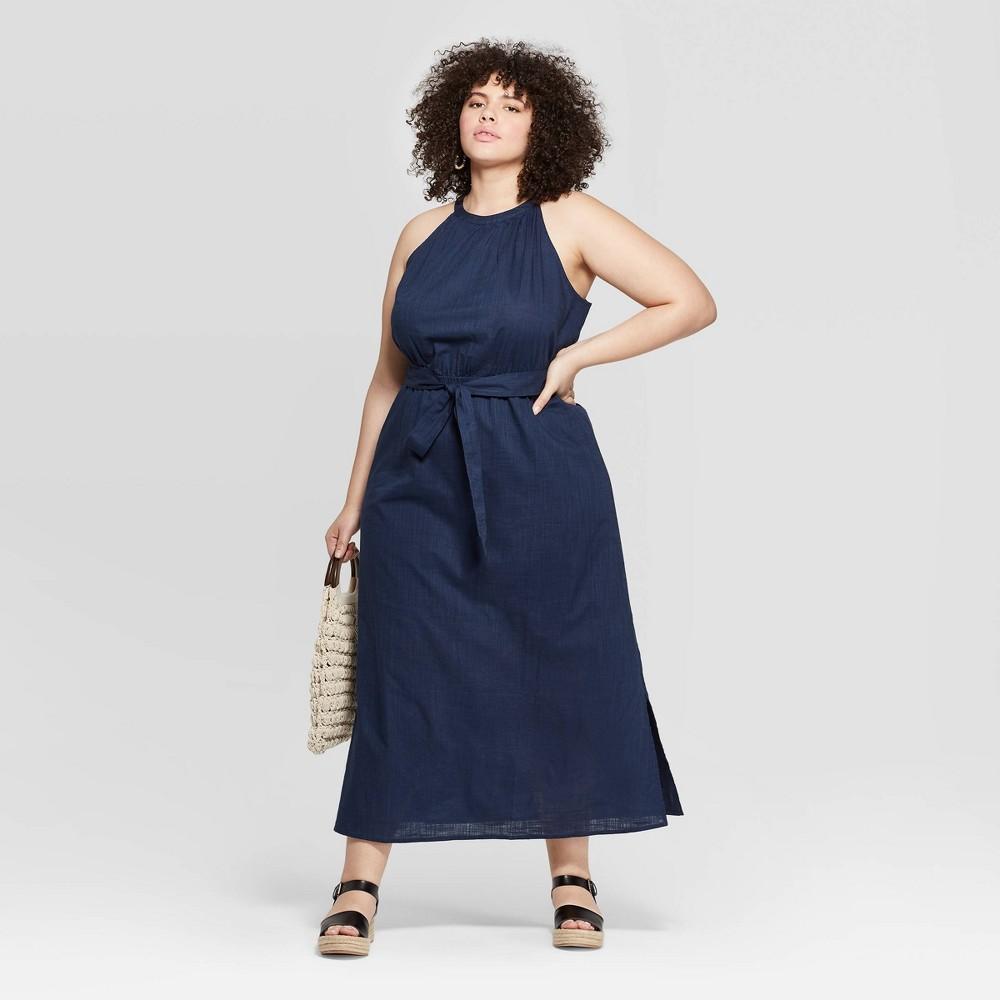 Women S Plus Size Sleeveless High Neck Maxi Dress Universal Thread Navy X Blue High Neck Maxi Dress Maxi Dress Plus Size Dresses [ 1000 x 1000 Pixel ]