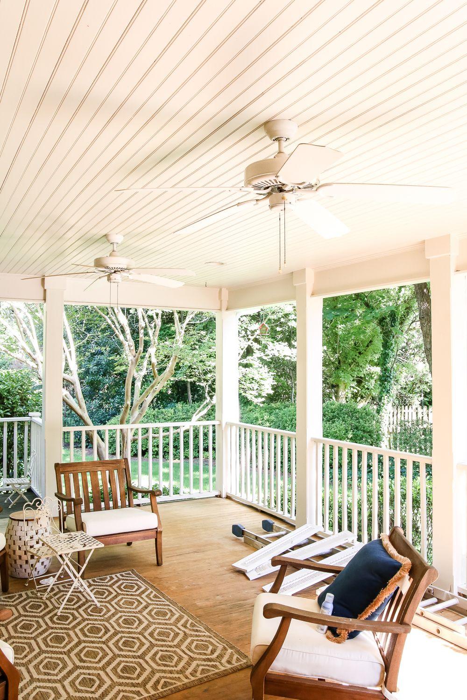 Haint Blue Porch Ceiling Makeover Blue Porch Ceiling