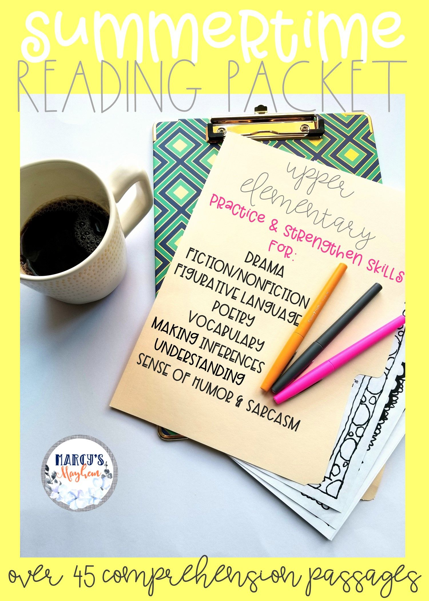 Reading Passages With Comprehension Questions Bundle 4th