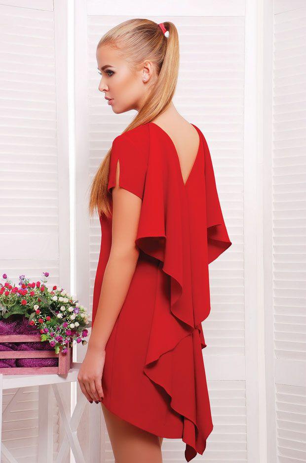 01c2a9a7b39 Модное женское Платье с воланом на спинке - Berlin Atelier - Модная женская  одежда