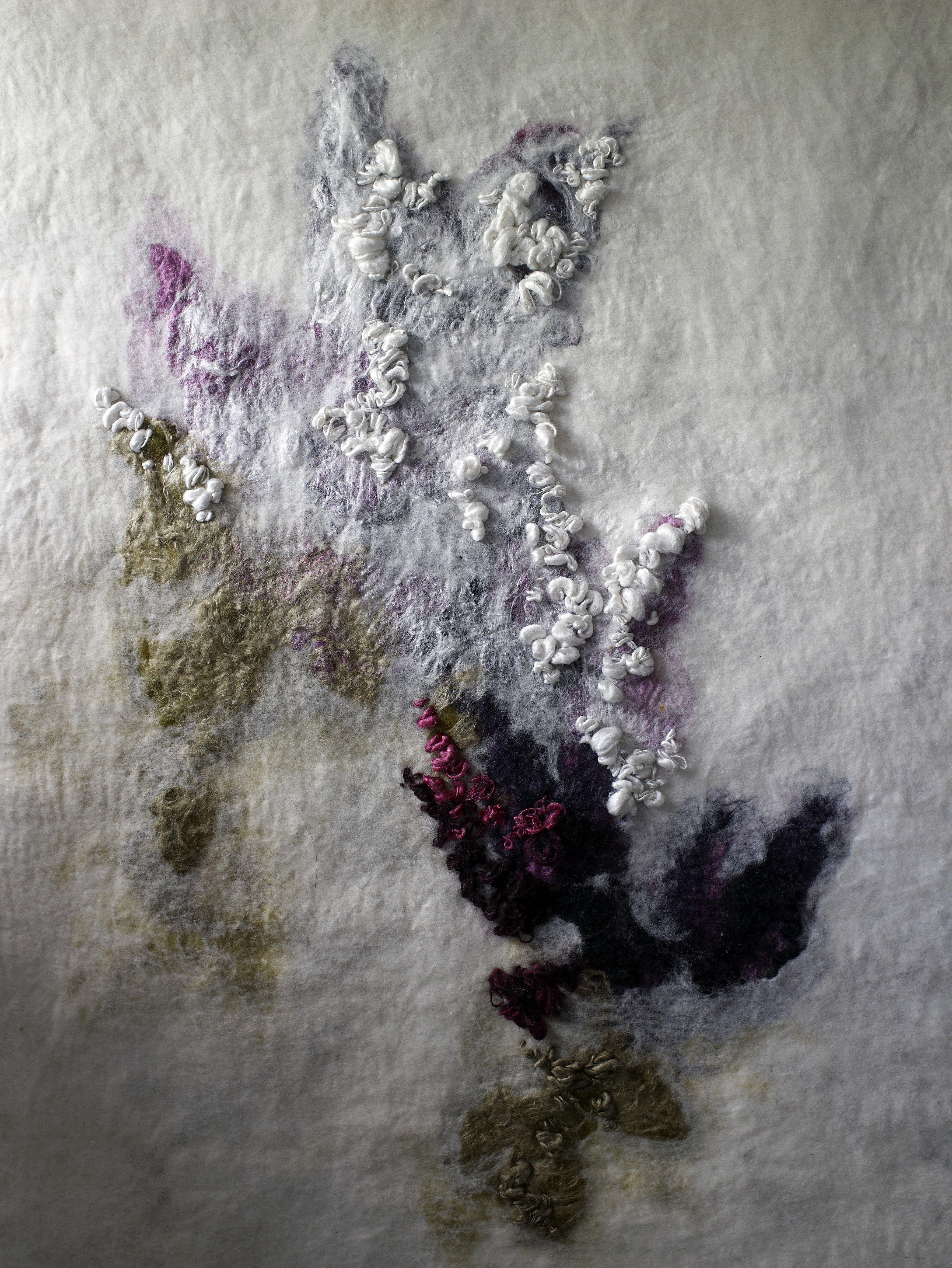 Felt Landscape Or Figurative Botanical Feel Colours Soft Grey Lavender Moss Green