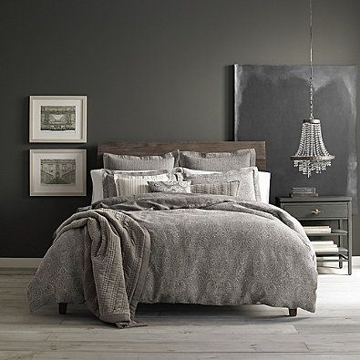 Wamsutta 174 Vintage Paisley Linen Duvet Cover In Grey Home