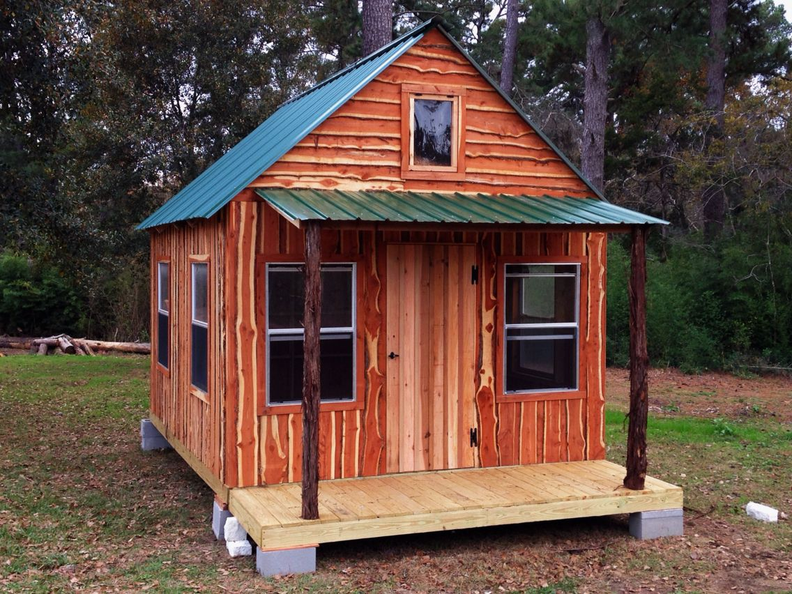 7x7 tiny house w/ loft  Small cabin plans, Cabin, Tiny house cabin
