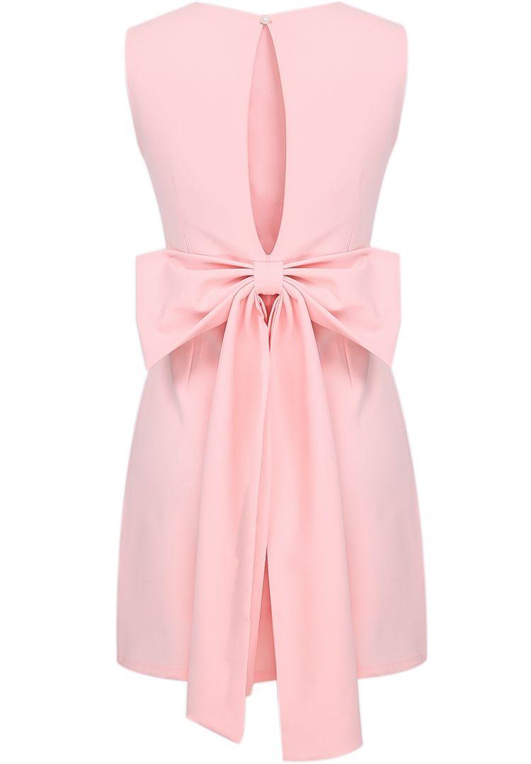 figurbetontes rückenfreies Kleid mit Schleife, rosa 19.82   Nähen ...