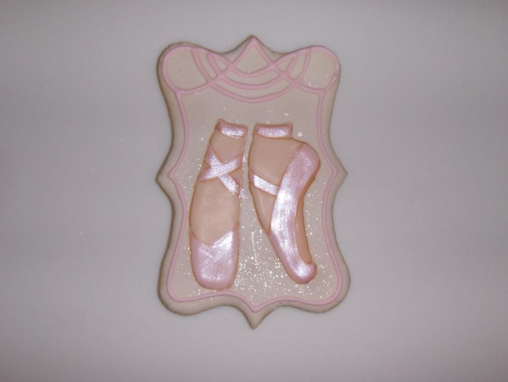 Ballet Pointe Shoes Cookies