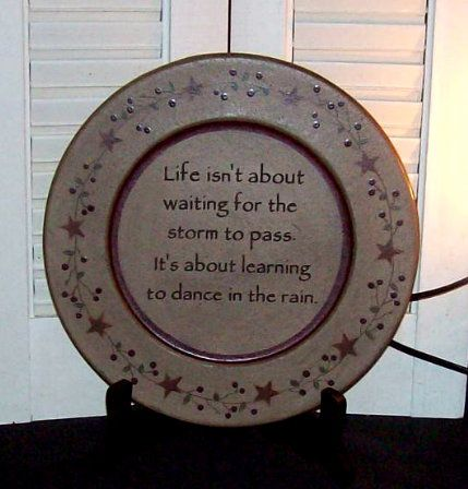 Plate-Life Isn\u0027t about waiting PlateCountry Primitive DecorCountry Home DecorInsperational Home DecorDan. & Life Isn\u0027t About Waiting for... Plate-Life Isn\u0027t about waiting Plate ...