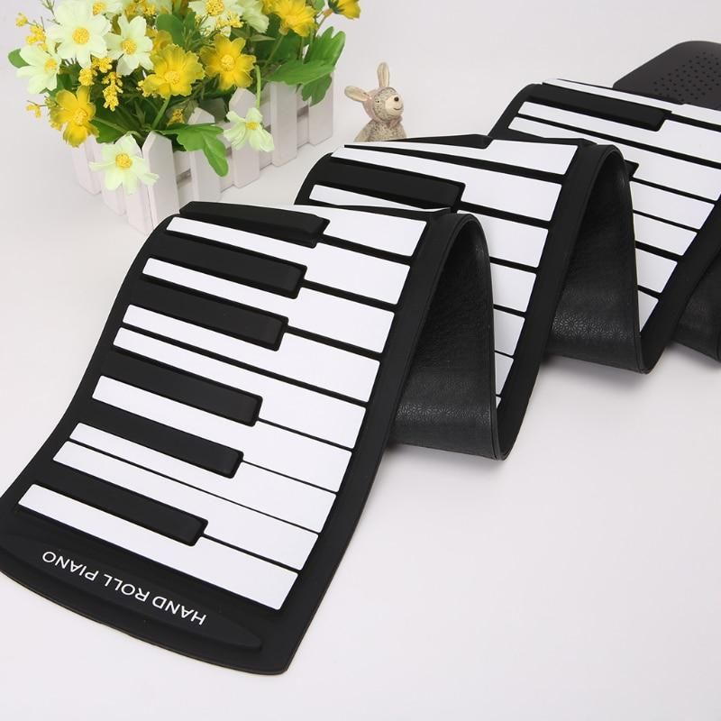 81c5a2ae7e8 Portable 88 Keys Keyboard Piano Silicone Flexible Roll Up Piano Foldable Keyboard  Hand-rolling Piano