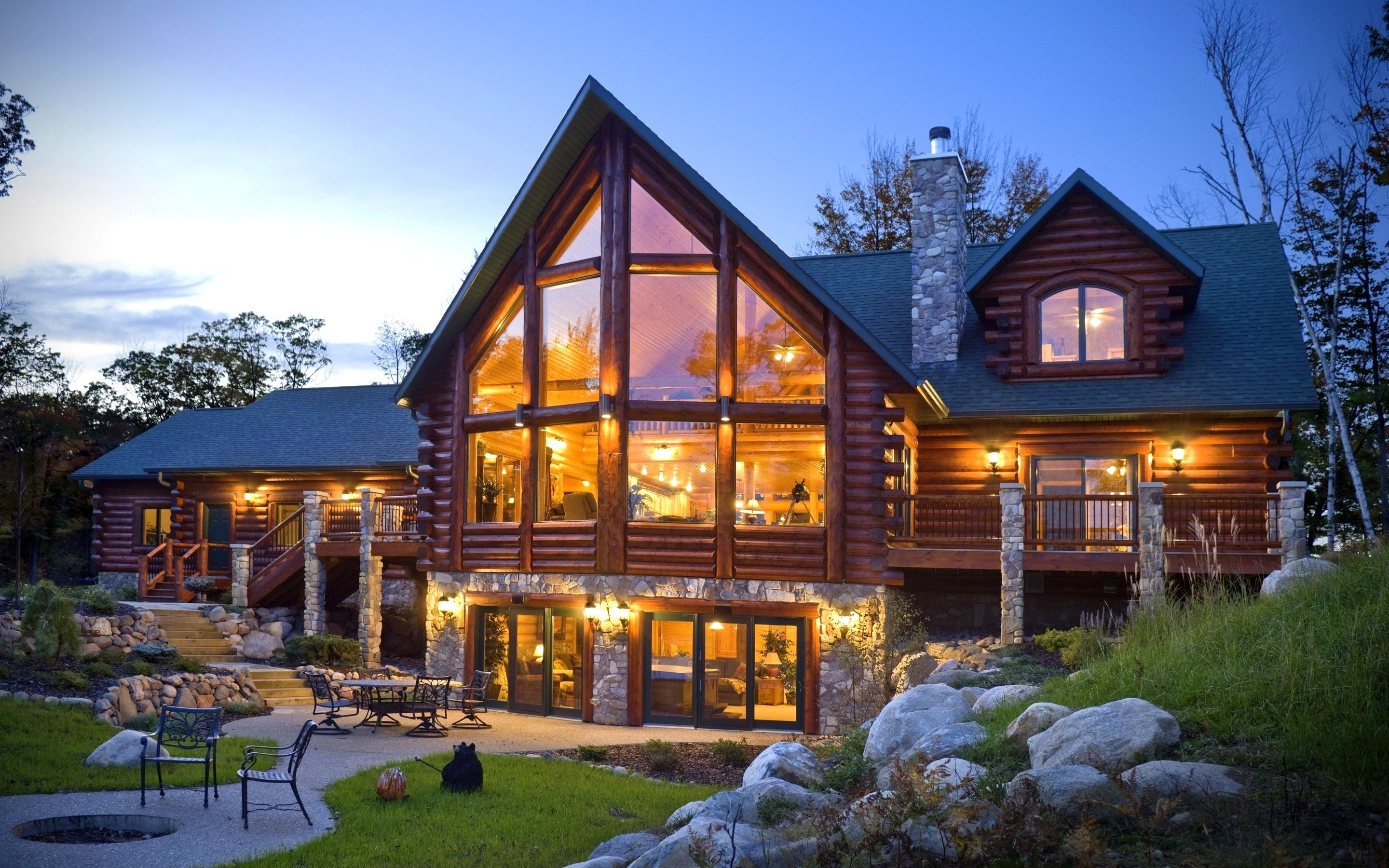 Beautiful Wooden House Exterior