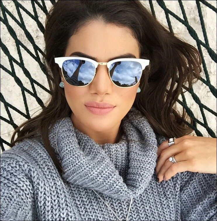 Espelhado com armação branca   Óculos escuros em 2019   Ray ban ... a614326aef