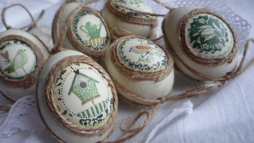Dekorácie - Vajíčka natur - volanie jari - 4969257_