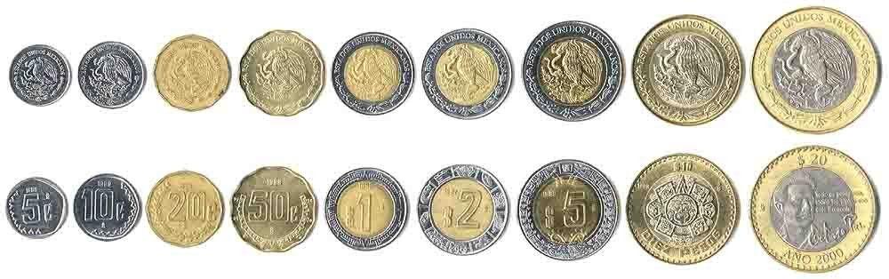 Mexican Money Mexico Coins In Circulation 2012 Monedas Moneda De 20 Centavos Moneda Mexicana