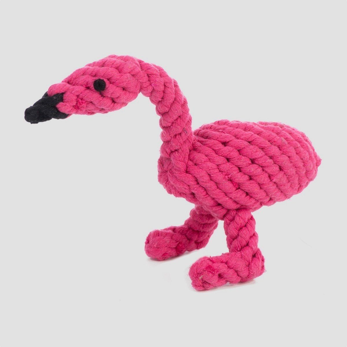 Jax bones fran the flamingo rope dog toy tough dog