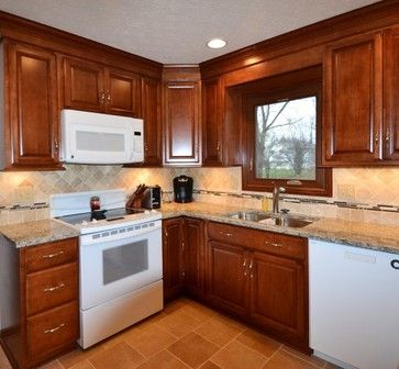 maple cabinets white appliances design ideas pictures remodel and decor farmhouse kitchen on farmhouse kitchen maple cabinets id=62163