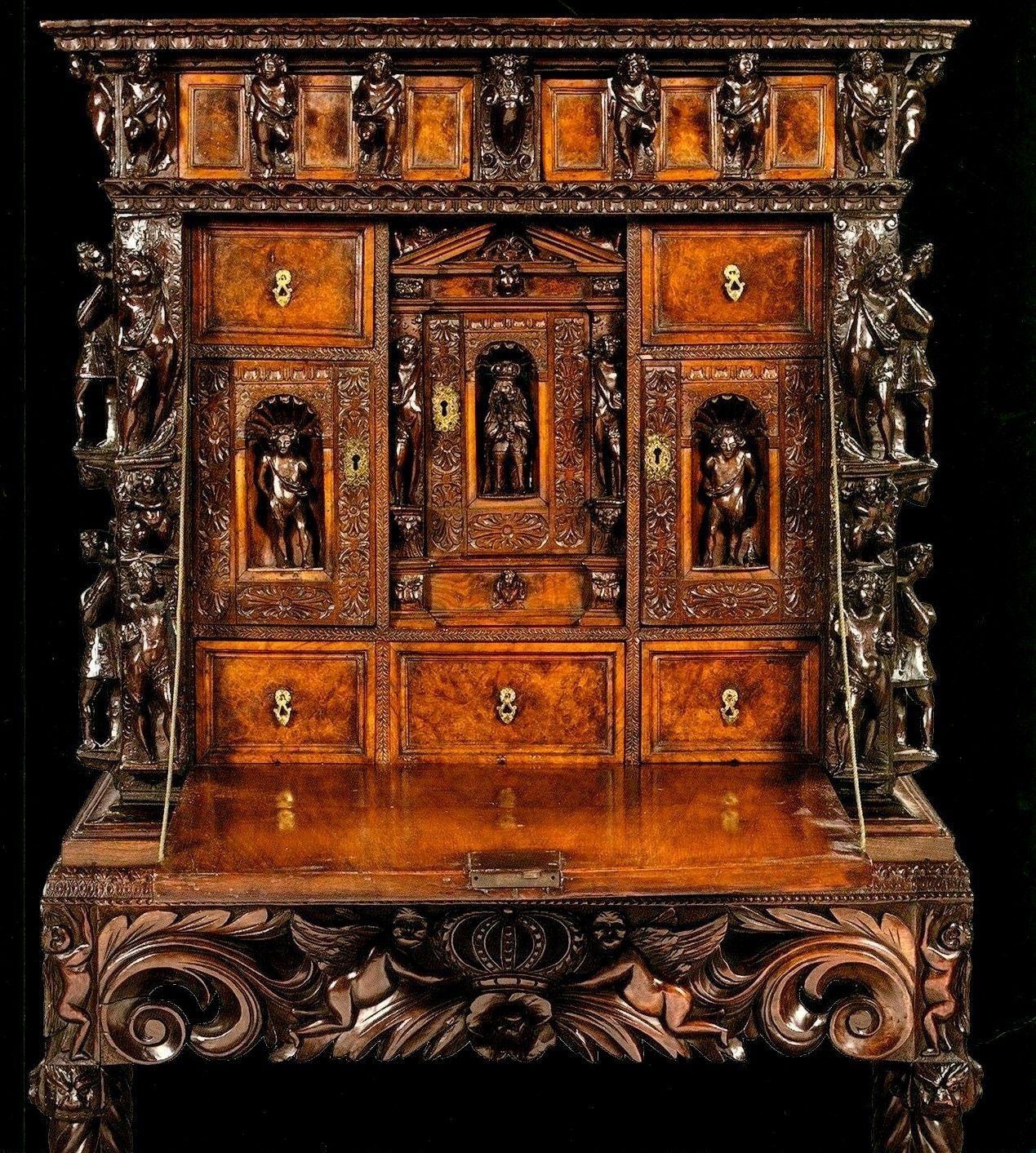 Muebles Italianos Clasicos Furniture Desk Genoese 16th Century Walnut Drop Front