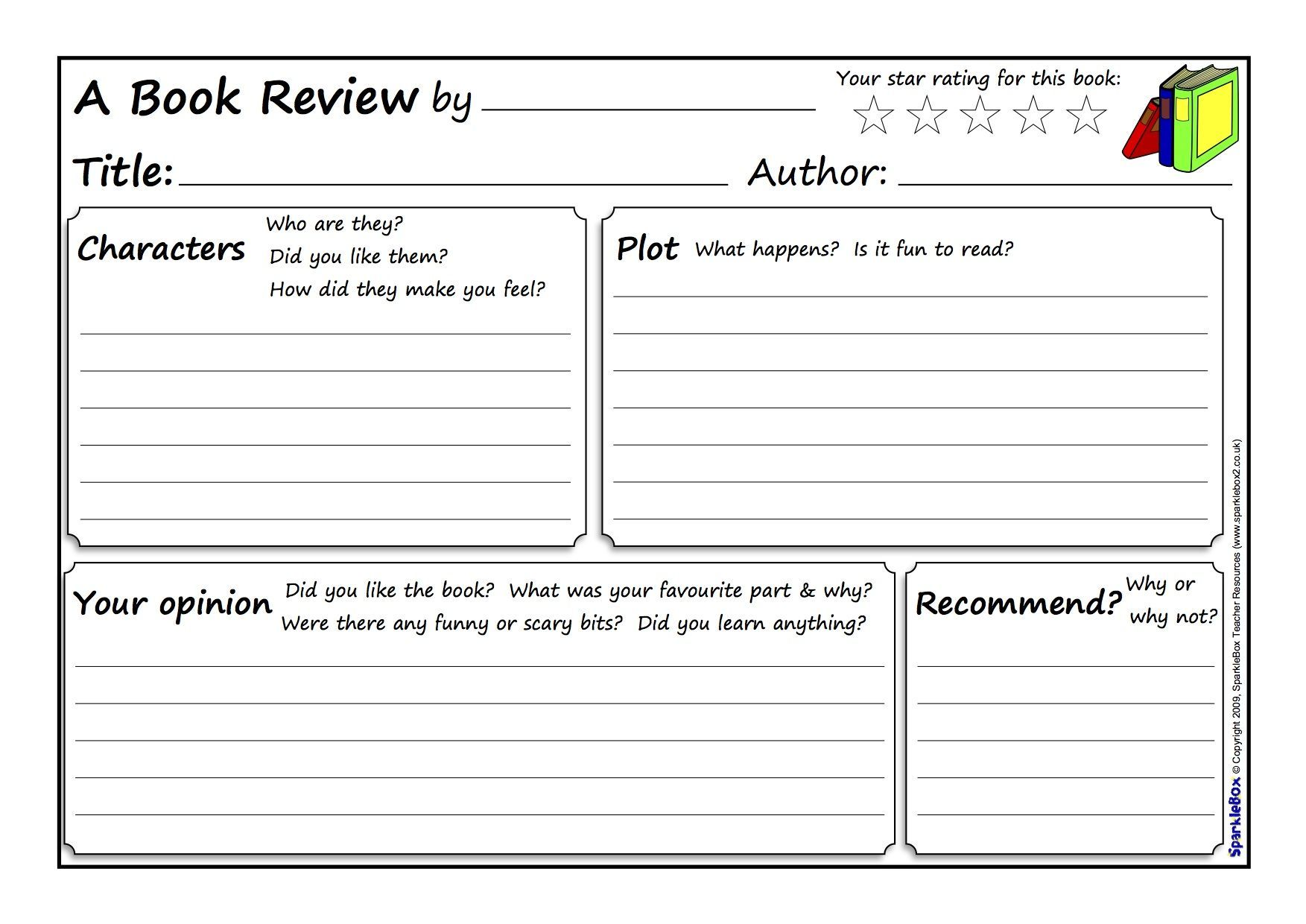 Book review template Writing a book review, Book review