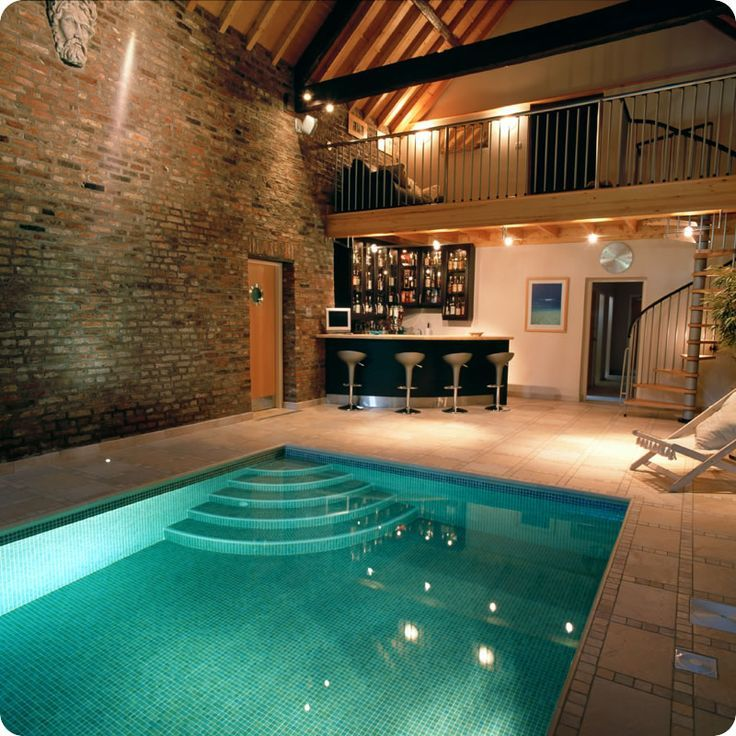 Home Indoor Pool With Bar